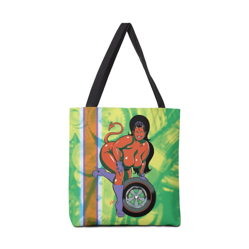 BIG WHEEL GIRL Accessories Bag by artofcoop's Artist Shop
