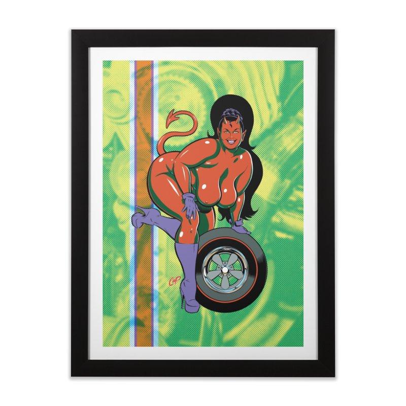BIG WHEEL GIRL Home Framed Fine Art Print by artofcoop's Artist Shop