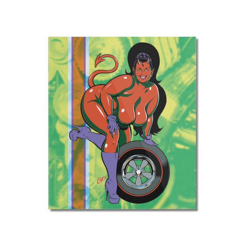 BIG WHEEL GIRL Home Mounted Acrylic Print by The Art of Coop
