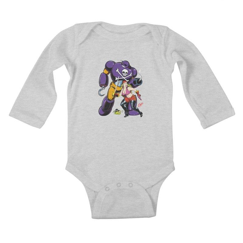 ARRRR! Kids Baby Longsleeve Bodysuit by The Art of Coop