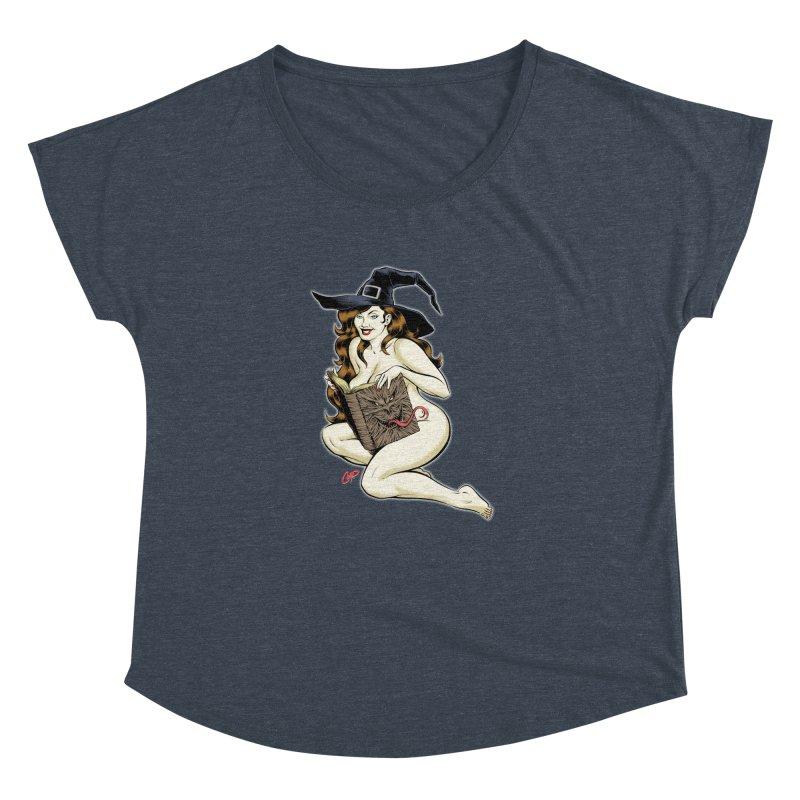 NECRONOMNOMNOM Women's Dolman Scoop Neck by The Art of Coop