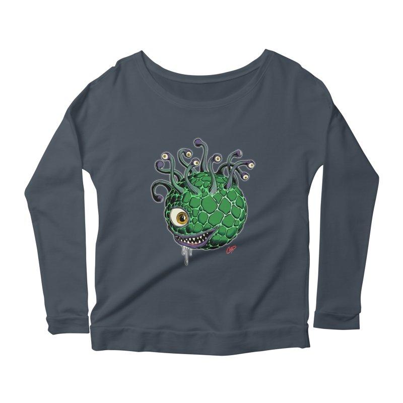 CAVERN CREEP Women's Scoop Neck Longsleeve T-Shirt by artofcoop's Artist Shop