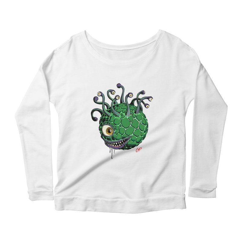 CAVERN CREEP Women's Scoop Neck Longsleeve T-Shirt by The Art of Coop