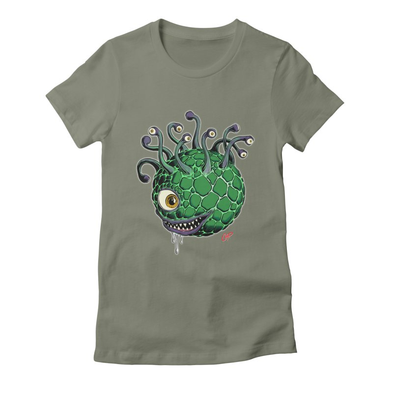 CAVERN CREEP Women's Fitted T-Shirt by artofcoop's Artist Shop