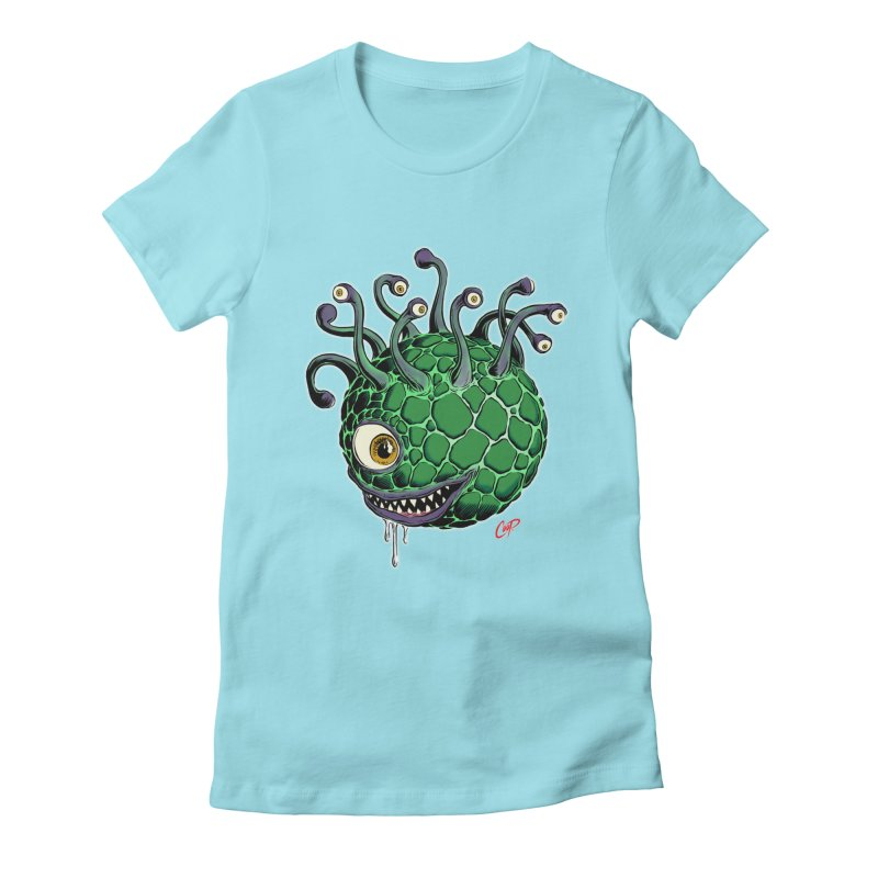 CAVERN CREEP Women's Fitted T-Shirt by The Art of Coop