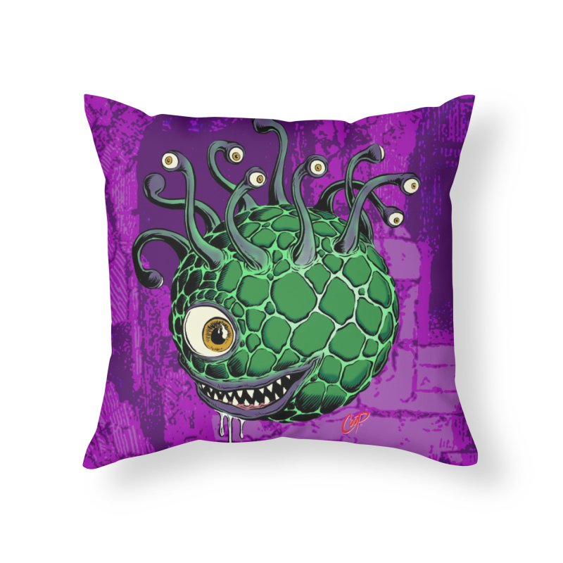 CAVERN CREEP Home Throw Pillow by artofcoop's Artist Shop