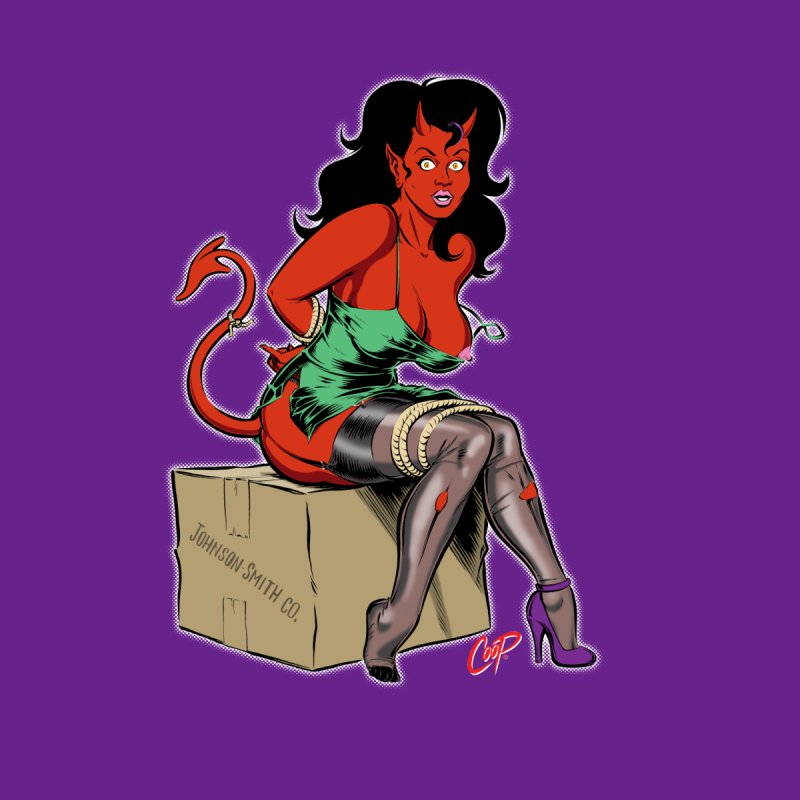 BONDAGE DEVIL GIRL Men's T-Shirt by The Art of Coop