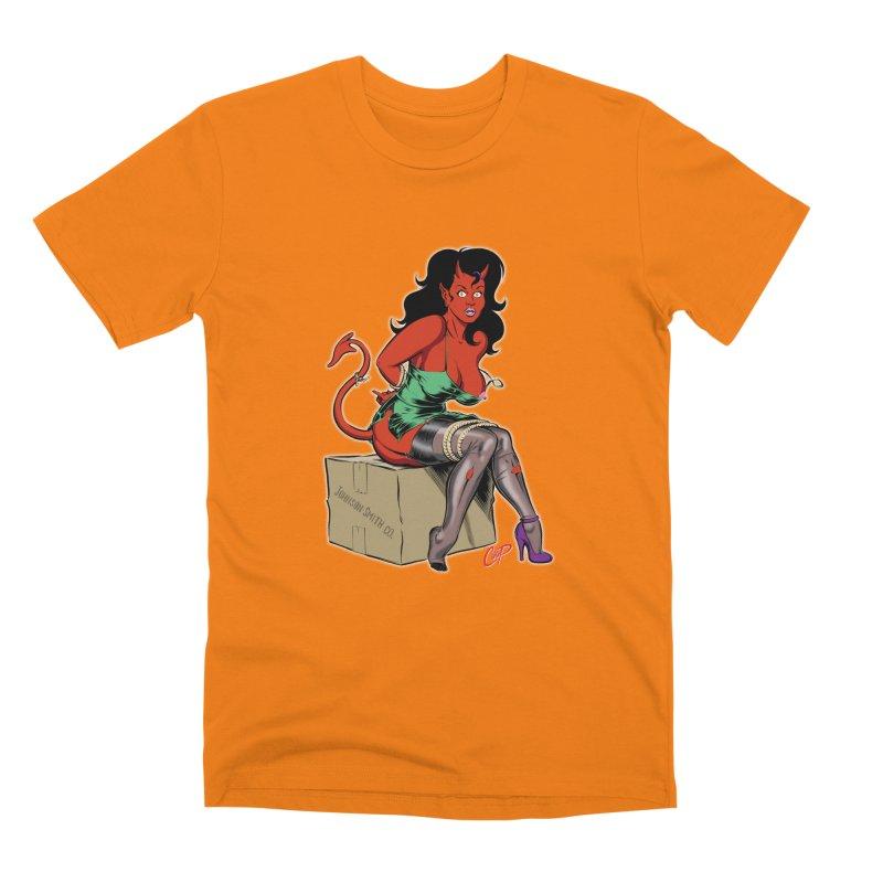 BONDAGE DEVIL GIRL Men's T-Shirt by The Art of Coop