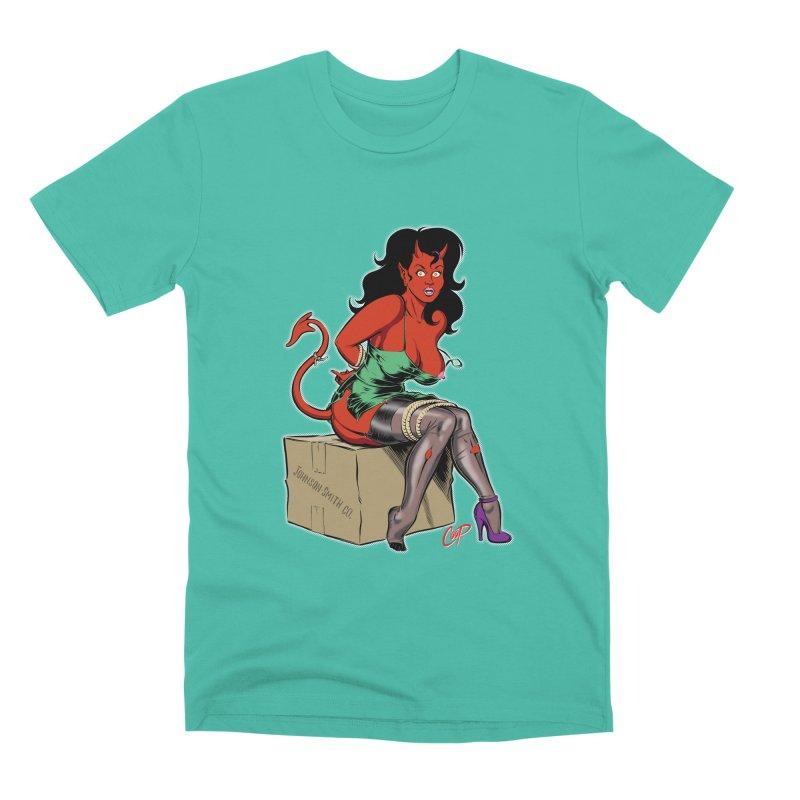 BONDAGE DEVIL GIRL Men's Premium T-Shirt by artofcoop's Artist Shop