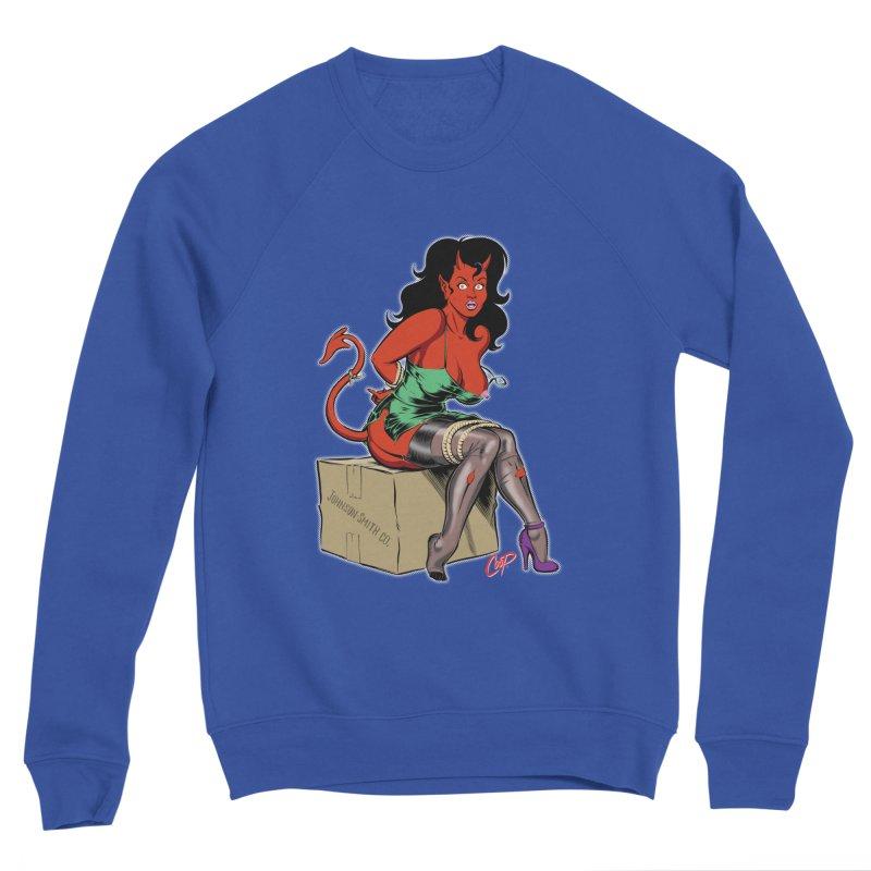 BONDAGE DEVIL GIRL Men's Sponge Fleece Sweatshirt by The Art of Coop
