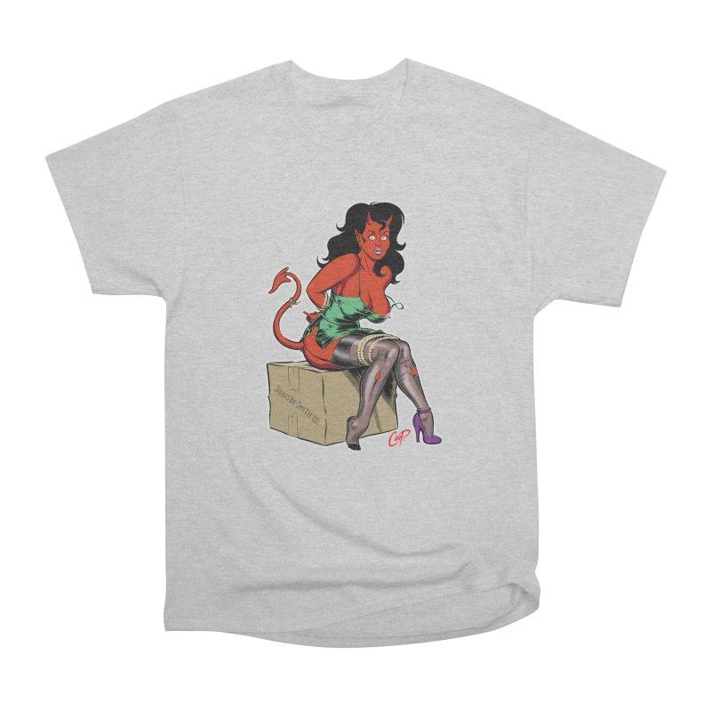 BONDAGE DEVIL GIRL Women's Heavyweight Unisex T-Shirt by artofcoop's Artist Shop
