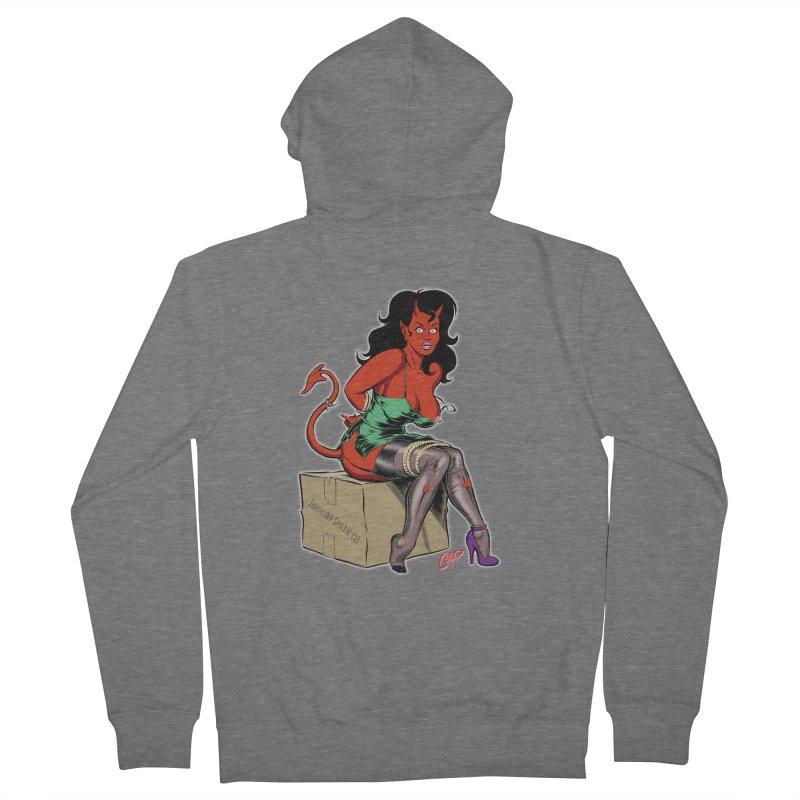 BONDAGE DEVIL GIRL Women's Zip-Up Hoody by The Art of Coop