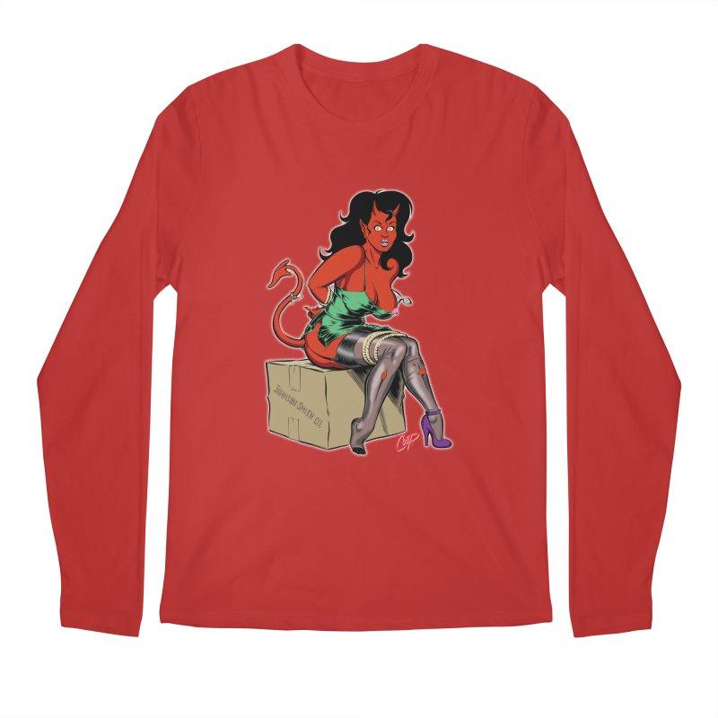 BONDAGE DEVIL GIRL Men's Regular Longsleeve T-Shirt by The Art of Coop