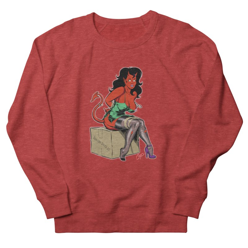 BONDAGE DEVIL GIRL Women's French Terry Sweatshirt by The Art of Coop