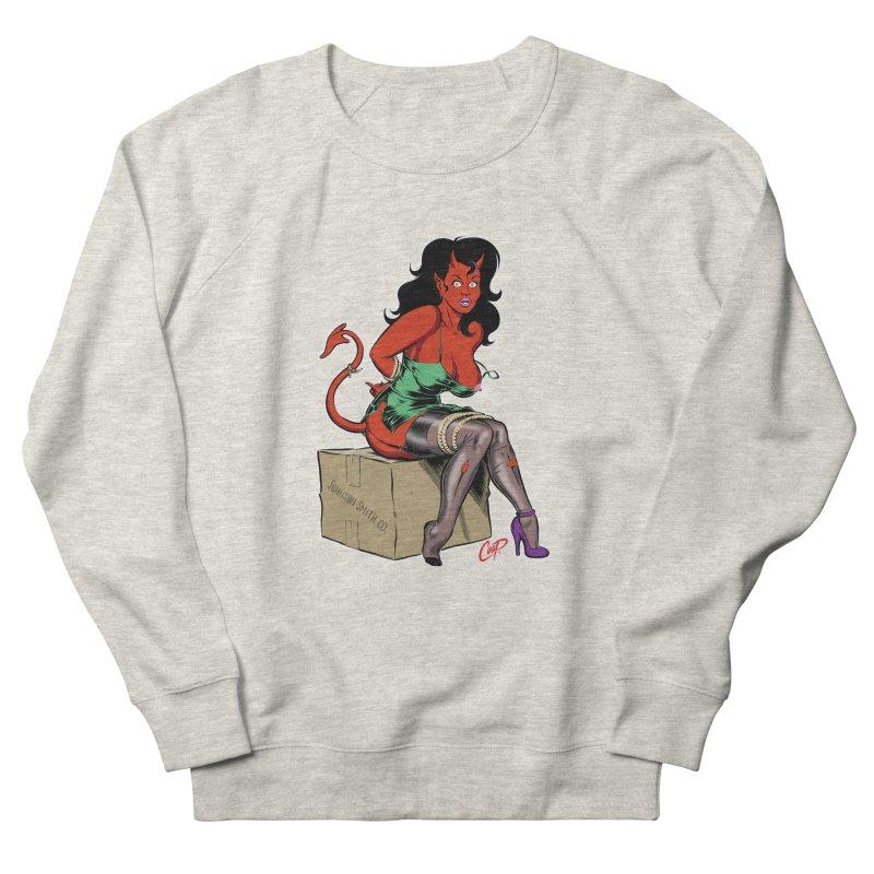 BONDAGE DEVIL GIRL Women's French Terry Sweatshirt by artofcoop's Artist Shop