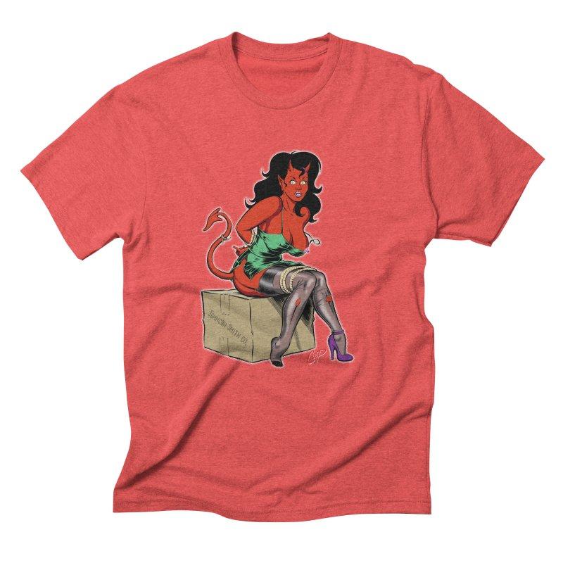 BONDAGE DEVIL GIRL Men's Triblend T-Shirt by artofcoop's Artist Shop