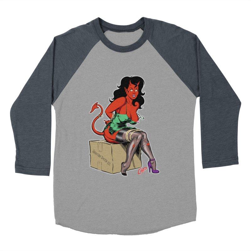 BONDAGE DEVIL GIRL Women's Baseball Triblend Longsleeve T-Shirt by The Art of Coop