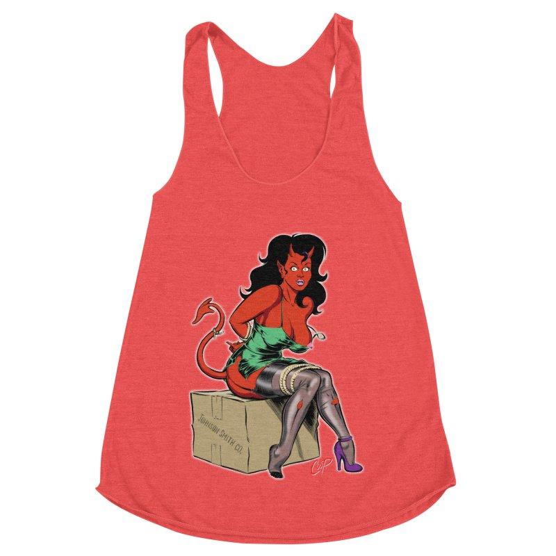 BONDAGE DEVIL GIRL Women's Tank by The Art of Coop