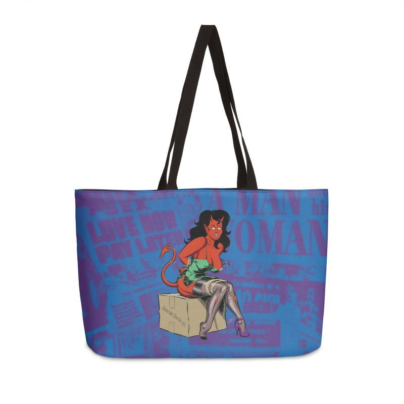 BONDAGE DEVIL GIRL Accessories Weekender Bag Bag by The Art of Coop