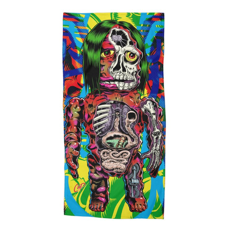 DISSECTED CAVEMAN Accessories Beach Towel by artofcoop's Artist Shop