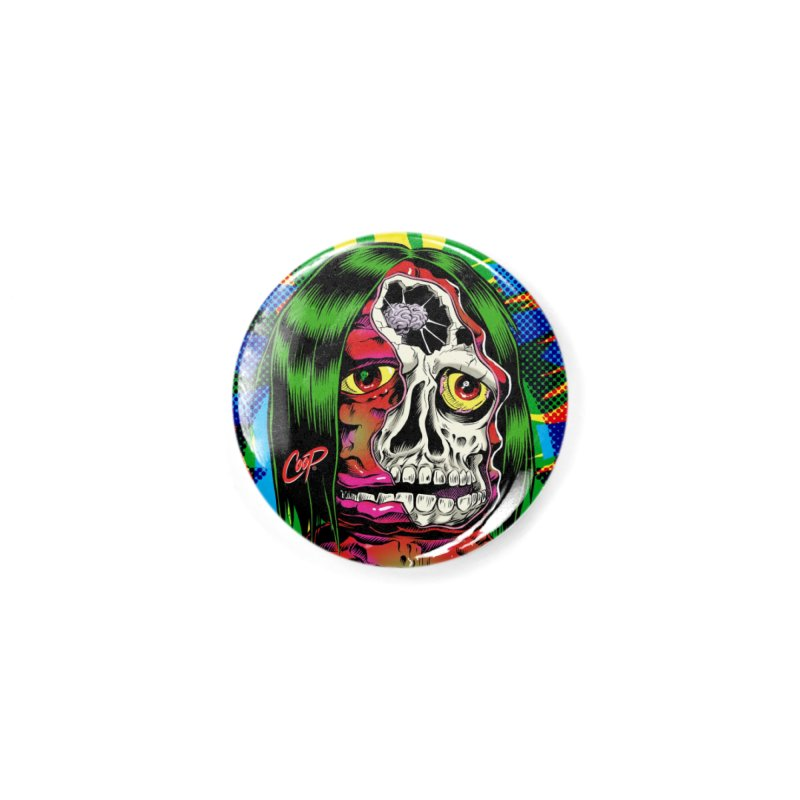 DISSECTED CAVEMAN Accessories Button by The Art of Coop