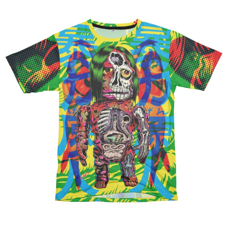 DISSECTED CAVEMAN Women's Unisex French Terry T-Shirt Cut & Sew by The Art of Coop