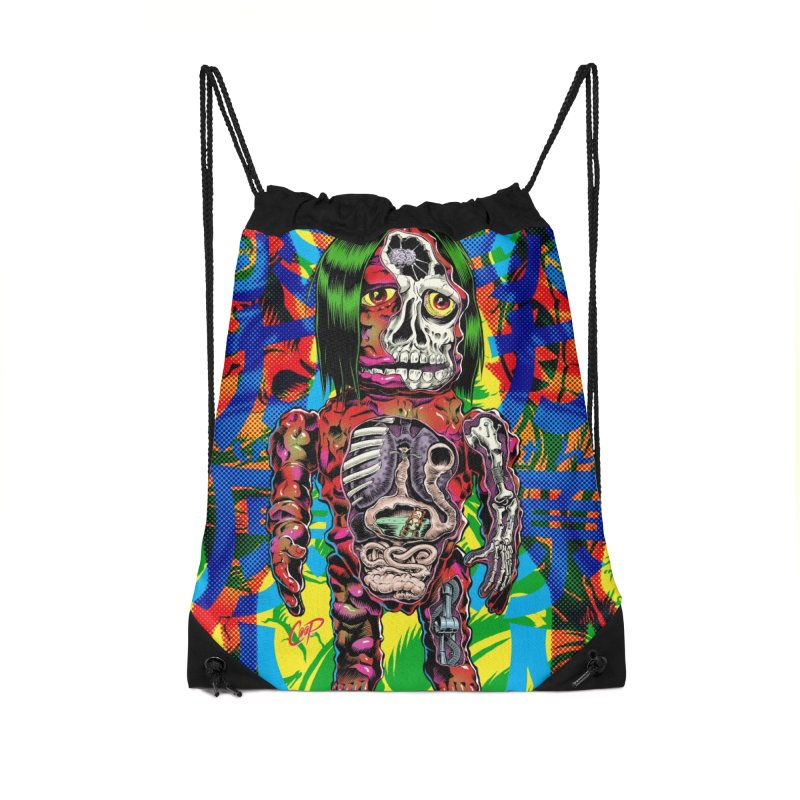 DISSECTED CAVEMAN Accessories Drawstring Bag Bag by The Art of Coop