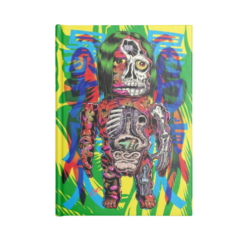 DISSECTED CAVEMAN Accessories Lined Journal Notebook by The Art of Coop