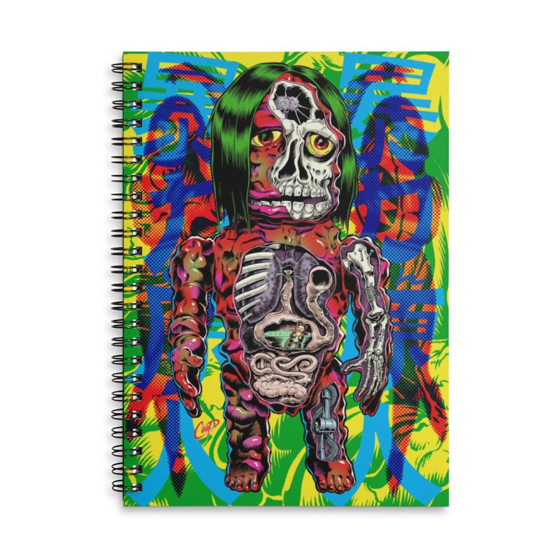 DISSECTED CAVEMAN Accessories Lined Spiral Notebook by The Art of Coop