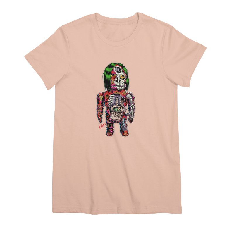DISSECTED CAVEMAN Women's Premium T-Shirt by The Art of Coop
