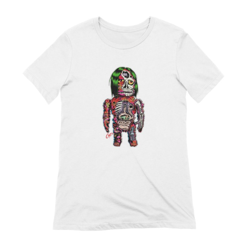 DISSECTED CAVEMAN Women's Extra Soft T-Shirt by The Art of Coop