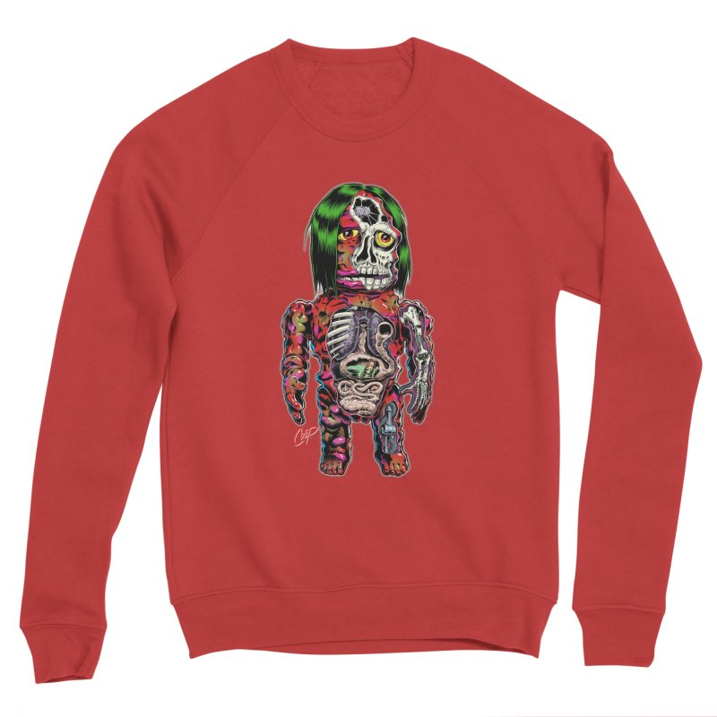 DISSECTED CAVEMAN Men's Sponge Fleece Sweatshirt by The Art of Coop