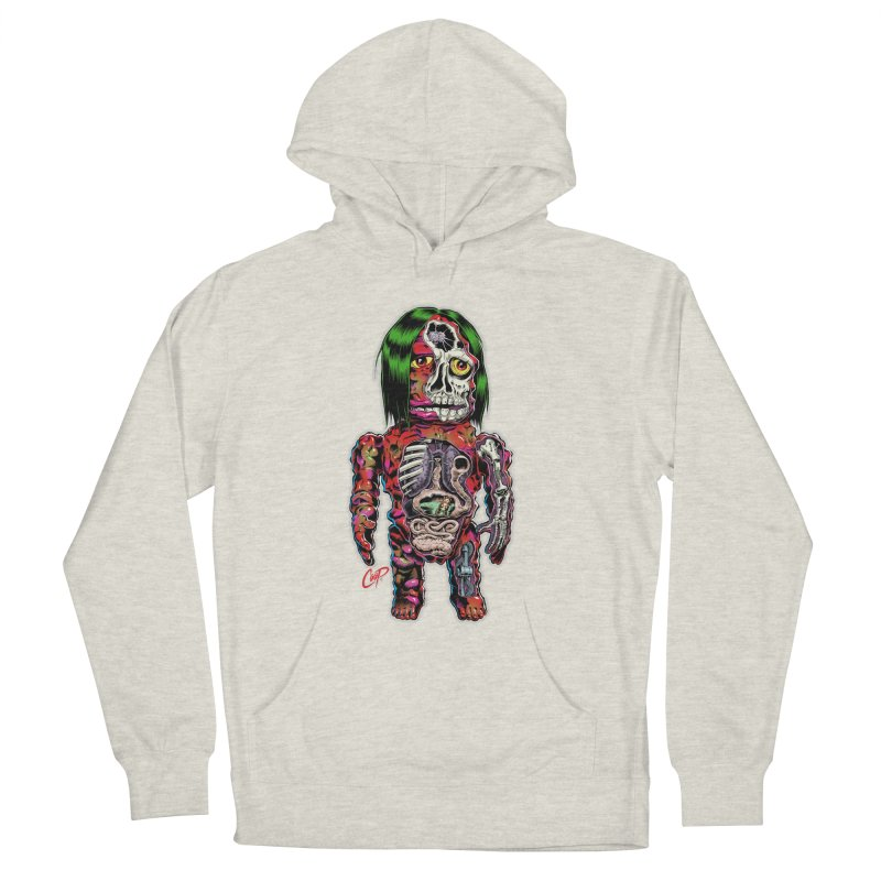 DISSECTED CAVEMAN Women's French Terry Pullover Hoody by The Art of Coop