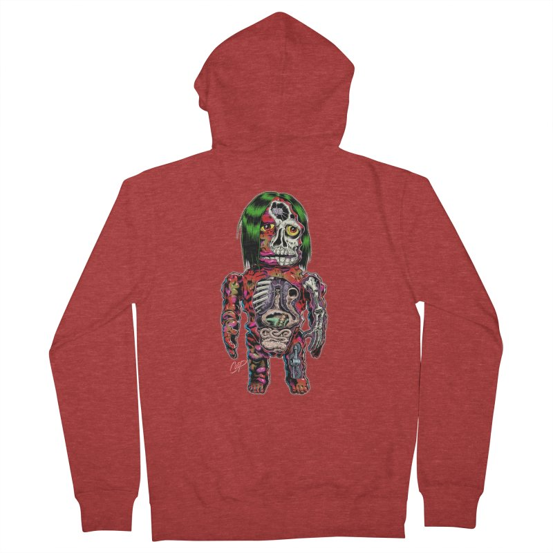 DISSECTED CAVEMAN Women's French Terry Zip-Up Hoody by The Art of Coop