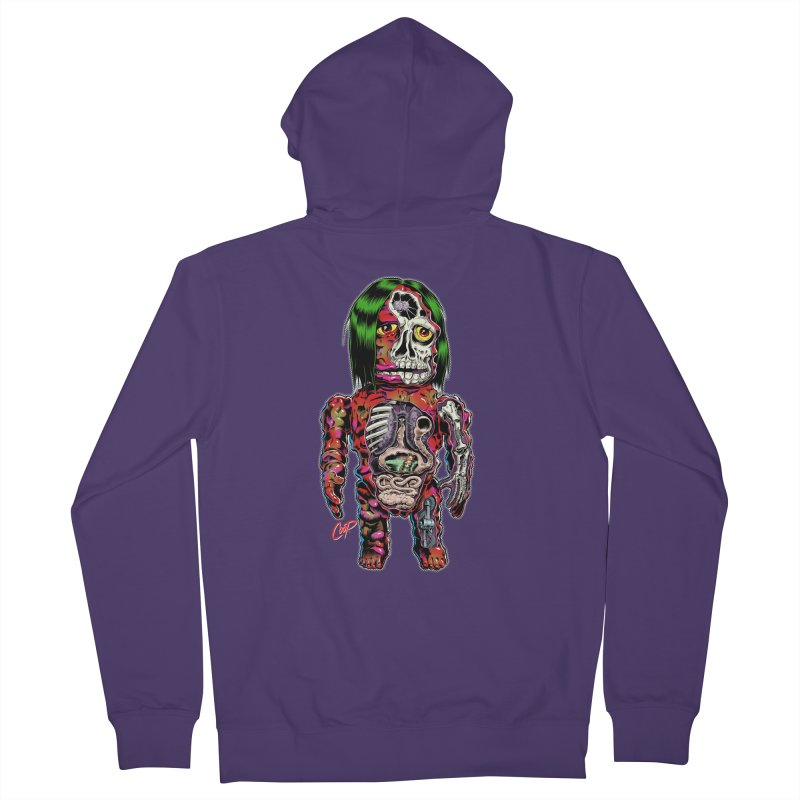 DISSECTED CAVEMAN Women's French Terry Zip-Up Hoody by artofcoop's Artist Shop