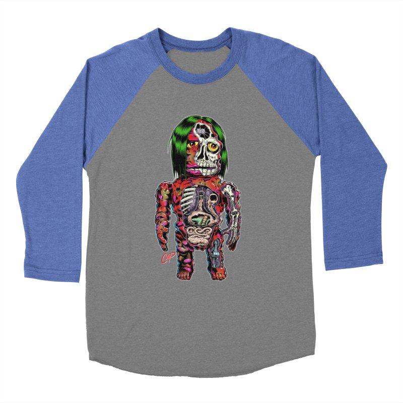 DISSECTED CAVEMAN Women's Baseball Triblend Longsleeve T-Shirt by The Art of Coop