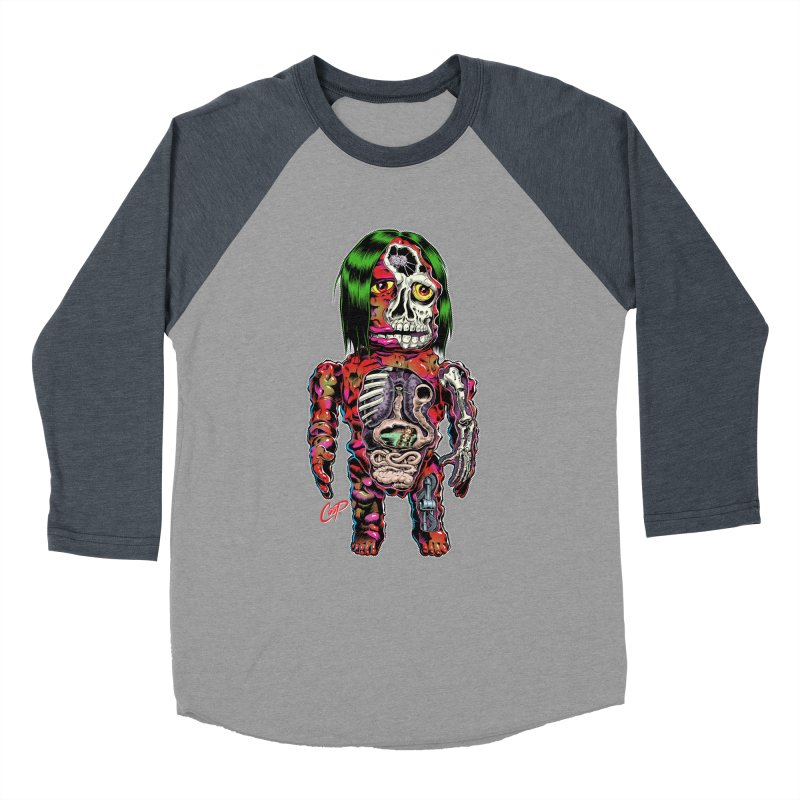 DISSECTED CAVEMAN Men's Baseball Triblend Longsleeve T-Shirt by The Art of Coop