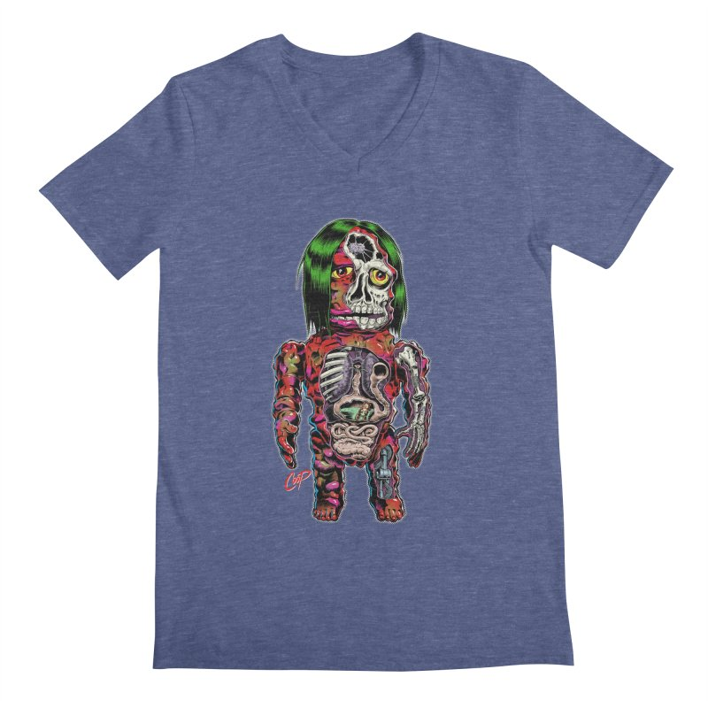 DISSECTED CAVEMAN Men's Regular V-Neck by The Art of Coop