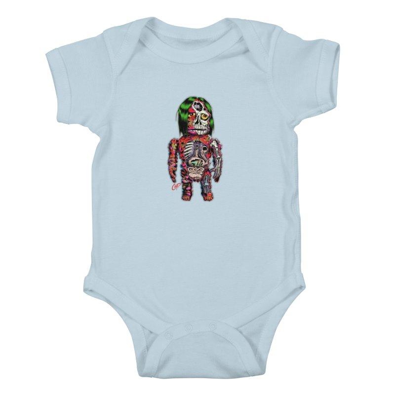 DISSECTED CAVEMAN Kids Baby Bodysuit by artofcoop's Artist Shop