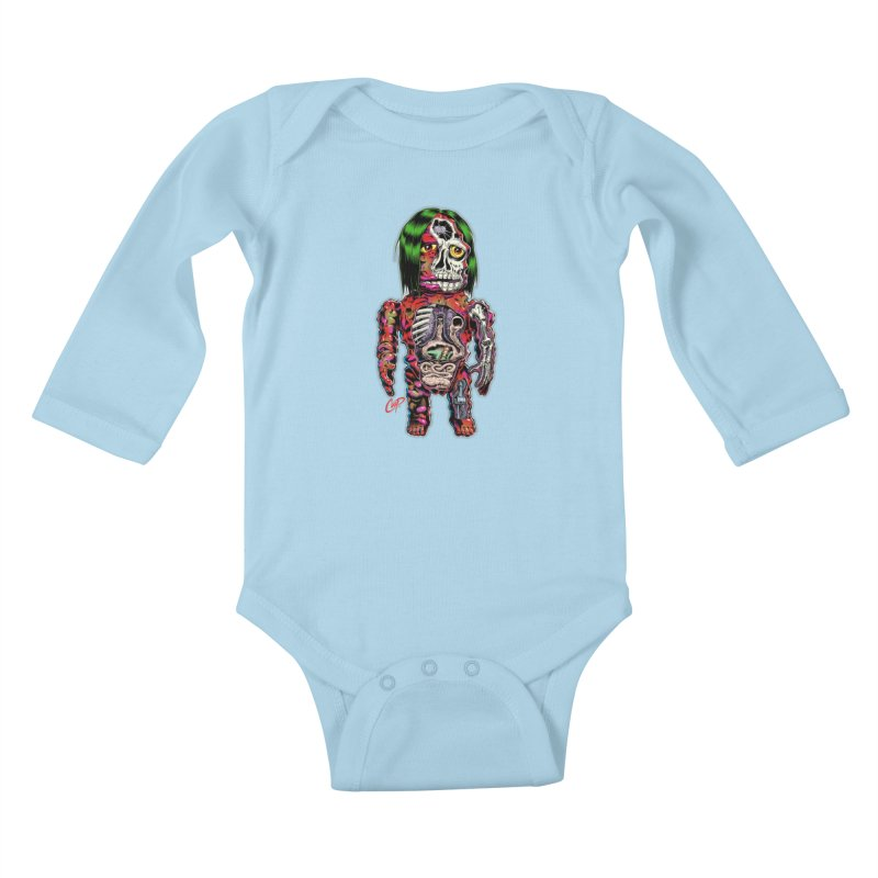 DISSECTED CAVEMAN Kids Baby Longsleeve Bodysuit by The Art of Coop