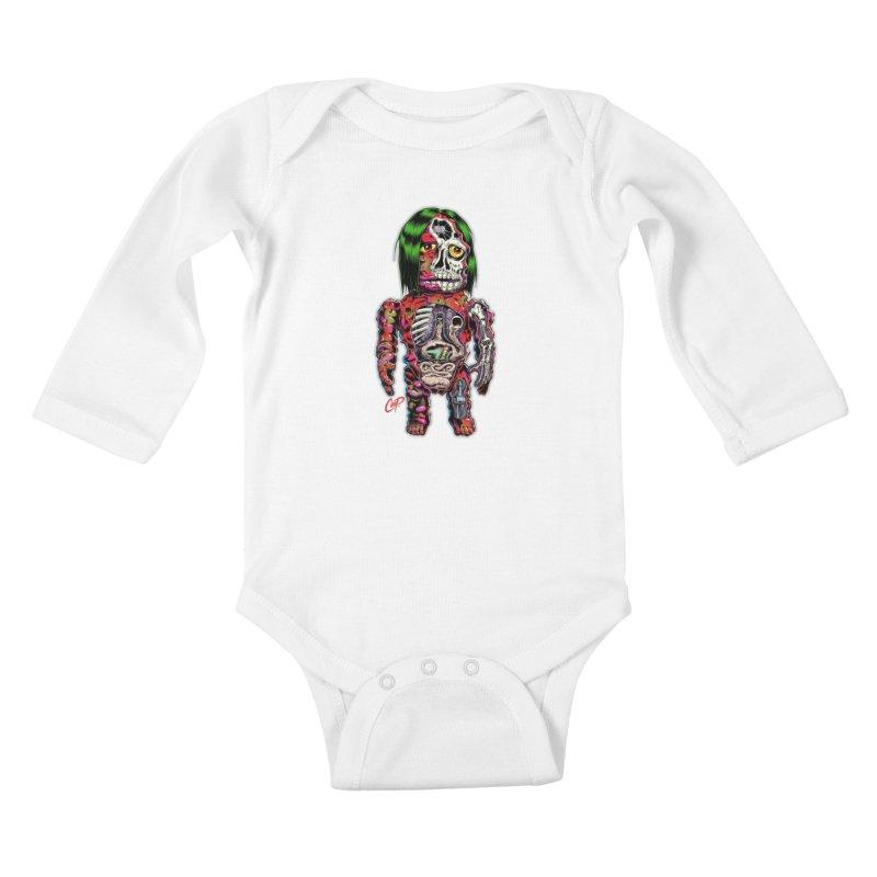 DISSECTED CAVEMAN Kids Baby Longsleeve Bodysuit by artofcoop's Artist Shop