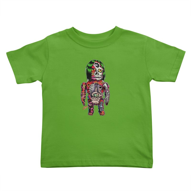 DISSECTED CAVEMAN Kids Toddler T-Shirt by The Art of Coop