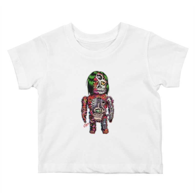 DISSECTED CAVEMAN Kids Baby T-Shirt by The Art of Coop