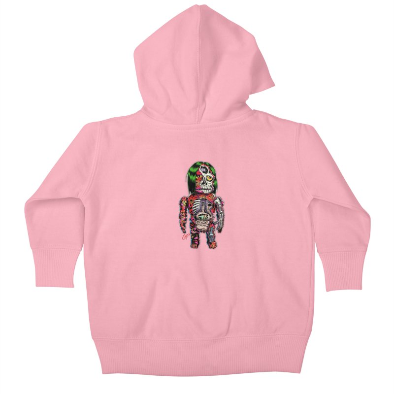 DISSECTED CAVEMAN Kids Baby Zip-Up Hoody by The Art of Coop