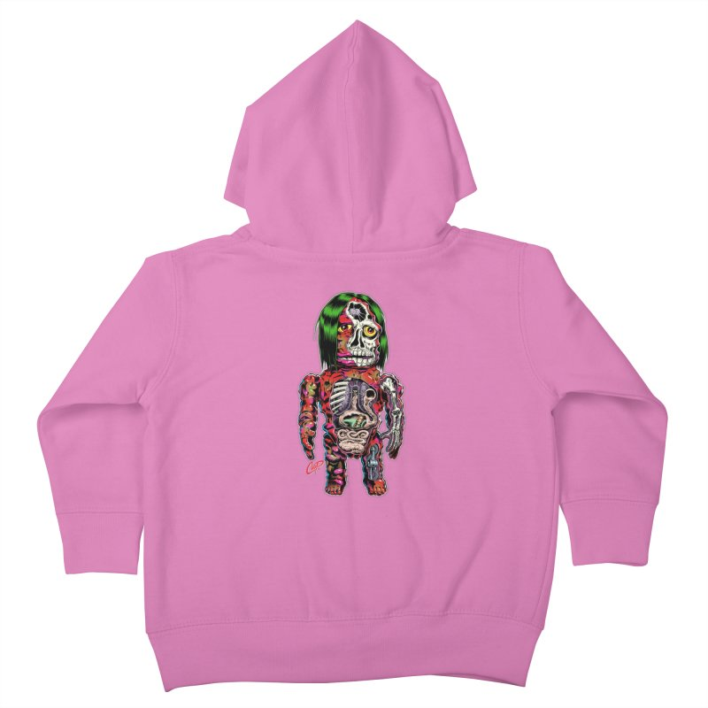 DISSECTED CAVEMAN Kids Toddler Zip-Up Hoody by The Art of Coop