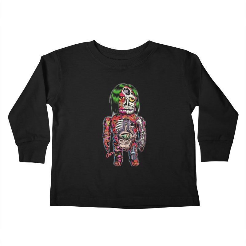 DISSECTED CAVEMAN Kids Toddler Longsleeve T-Shirt by The Art of Coop