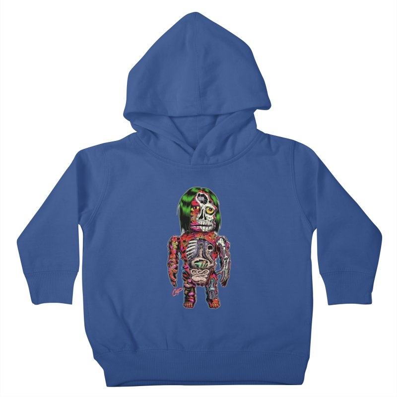 DISSECTED CAVEMAN Kids Toddler Pullover Hoody by artofcoop's Artist Shop