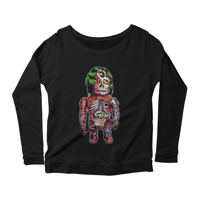 DISSECTED CAVEMAN Women's Scoop Neck Longsleeve T-Shirt by The Art of Coop