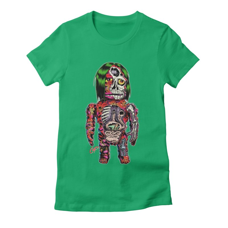 DISSECTED CAVEMAN Women's Fitted T-Shirt by artofcoop's Artist Shop