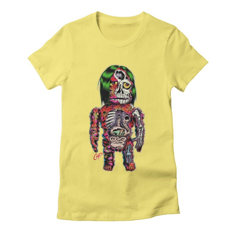 DISSECTED CAVEMAN Women's Fitted T-Shirt by The Art of Coop